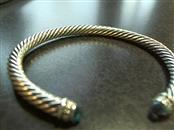 David Yurman Blue Topaz Silver-Stone Bracelet 925 Silver 27.3g
